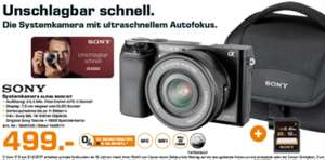 [Lokal Saturn Rostock] Sony Alpha 6000 Kit inkl. Tasche & 16 GB SD Karte