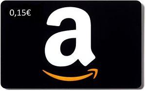 Gratis 0,15 € Amazon Gutschein Einkaufsgutschein  bei eBay