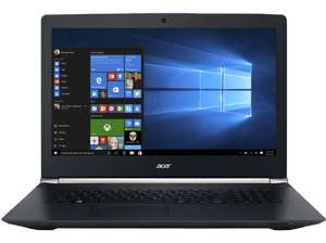 "[Saturn.at] Acer Aspire V 17 Nitro 7-793G-74L1 - Core i7 7700HQ / 2,8 GHz - Win 10 Home 64-Bit - 8GB RAM - 256GB SSD + 1TB HDD - 43,94 cm (17.3"") IPS 1920 x 1080 (Full HD) - GF GTX 1060 - Wi-Fi, Bluetooth - Obsidian Black"