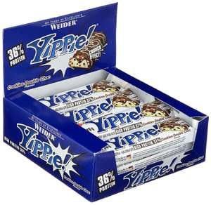 Weider YIPPIE! Bar, Cookie-Double Chocolate, 1er Pack (12 x 70g Riegel) für 9,87€ [Amazon Prime]