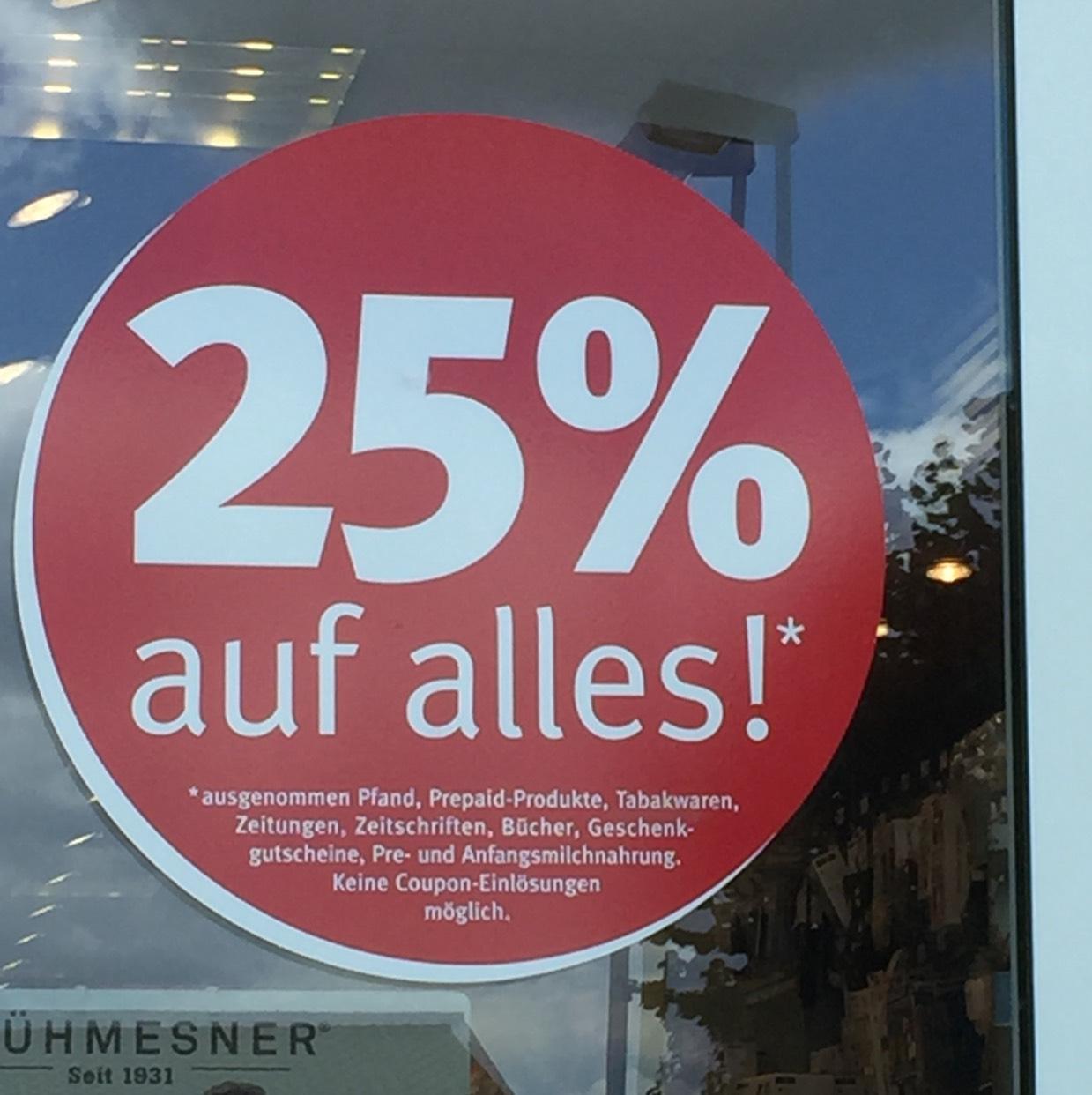 [LOKAL Ritterhude bei Bremen] Rossmann 25% auf Alles wg. Umzug