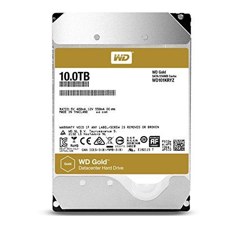Western Digital Gold Datacenter 10TB für ~406€mit Prime in Amazon Frankreich - große Festplatte für die übliche Data Warehouse Anwendung daheim