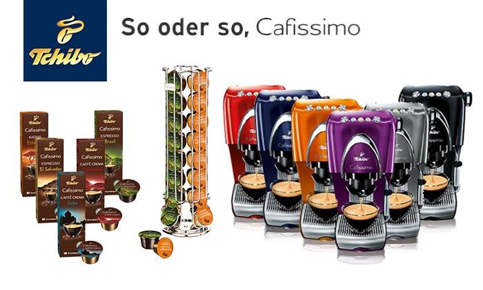 Tchibo Cafissimo CLASSIC + Kapselspender + 100 Kapseln - GROUPON