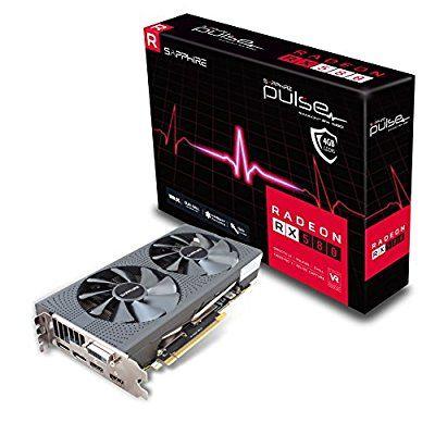 SAPPHIRE PULSE RADEON RX 580 4GB GDDR5 DUAL HDMI DVI-D DUAL DP OC 1355mhz Grafikkarte @amazon.it