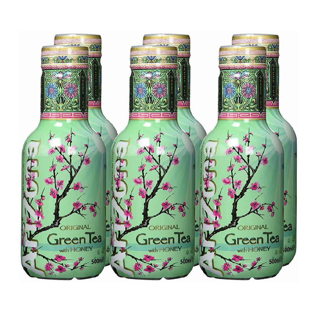 (Amazon Plus) AriZona Green Tea with Honey (6x 0,5l) | 5,55€