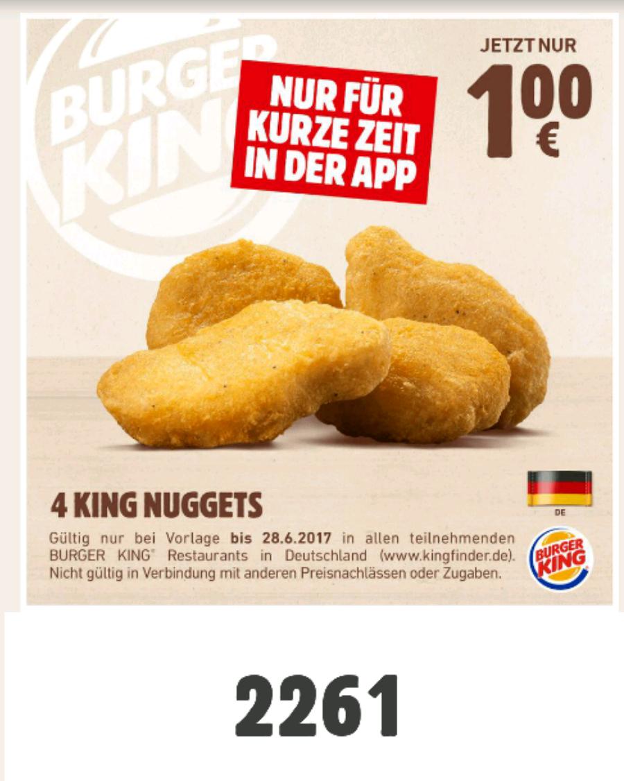 4 King Nuggets für nur 1€