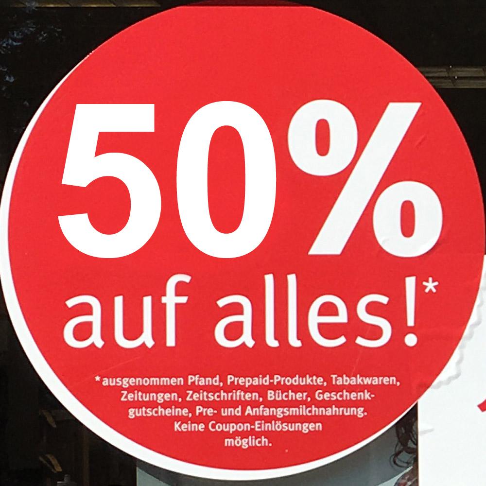 [lokal Berlin Buch] Rossmann jetzt 50% Rabatt auf alles*
