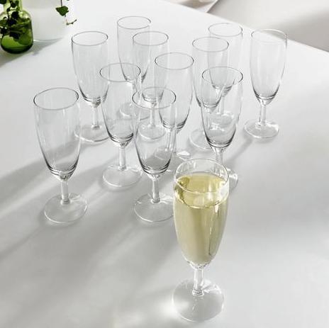 Cheers! 48 Sektgläser + Servierplatte für 15,90€ inkl. Versand bei XXXL