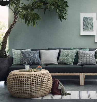 Wir sehen Grün! Sammeldeal zur Home & Living Trendfarbe 2017: Greenery, z.B. H&M Kissenhüllle nur 2,99€ statt 4,99€