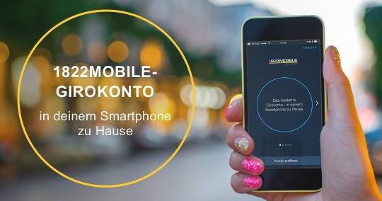 20€ Cashback für das neue und kostenlose Smartphone Konto der 1822MOBILE inkl. gebührenfreier VISA-Card