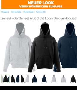 2er-Set oder 3er-Set Fruit of the Loom Unique Hoodies bei Groupon
