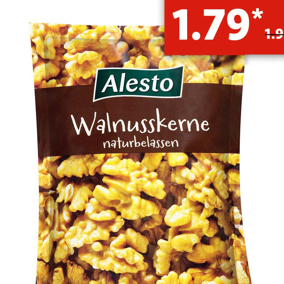 Naturbelassene Walnusskerne 200g nur 1,79€ bei (Lidl ab Montag)