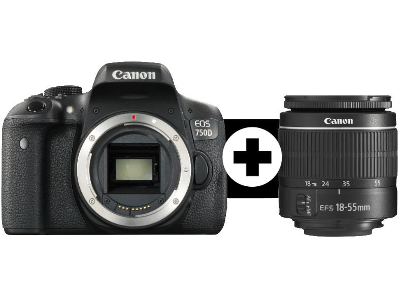 (Mediamarkt) Canon EOS 750D Kit 18-55mm (abzgl. Sommercashback 40 EUR)