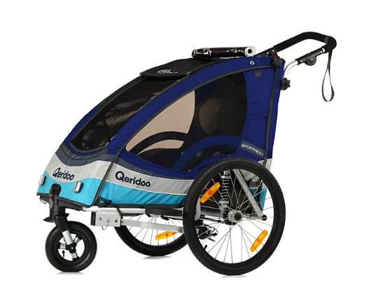 Kinderfahrradanhänger Qeridoo Sportrex 1 2017er Modell für 300,79€ - versandkostenfrei - bei [Plus.de]