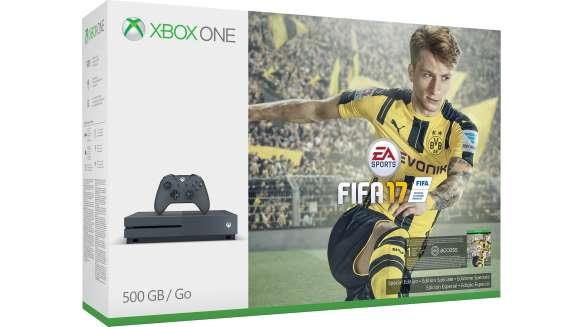 [Shoop.de] Xbox One S FIFA 17 500 GB Bundles (grau/blau/weiß) für 199 € nach Abzug von Cashback
