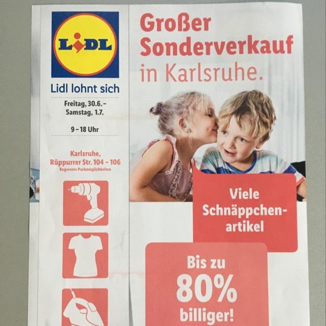 Großer Lidl Sonderverkauf [Lokal Karlsruhe]