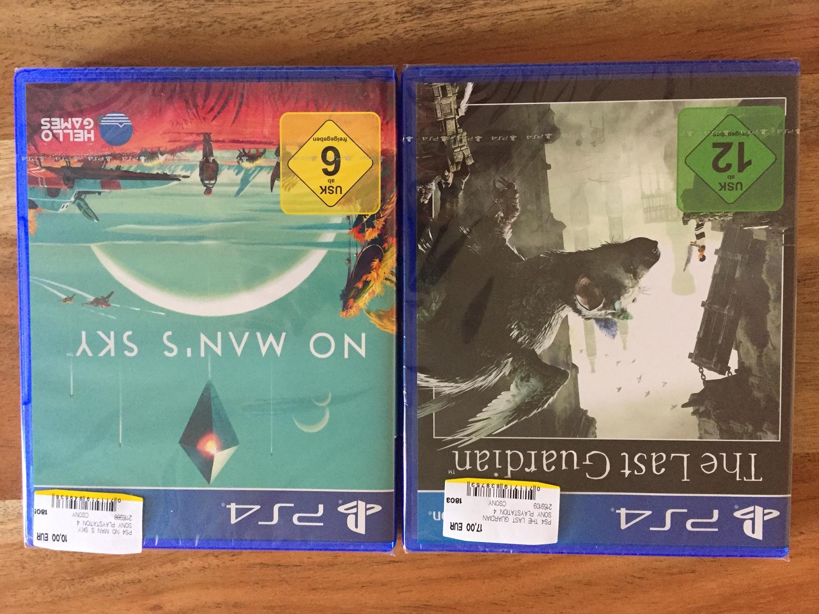 The Last Guardian PS4 für 17 EUR und No Man's Sky PS4 für 10 EUR bei Media Markt München im Einstein