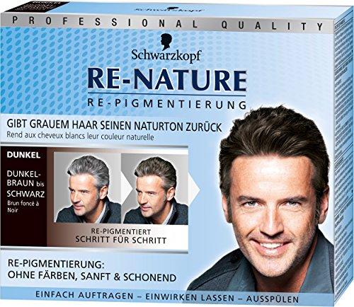 [amazon prime] Schwarzkopf Re-Nature Re-Pigmentierung für Männer, dunkel, 3er Pack