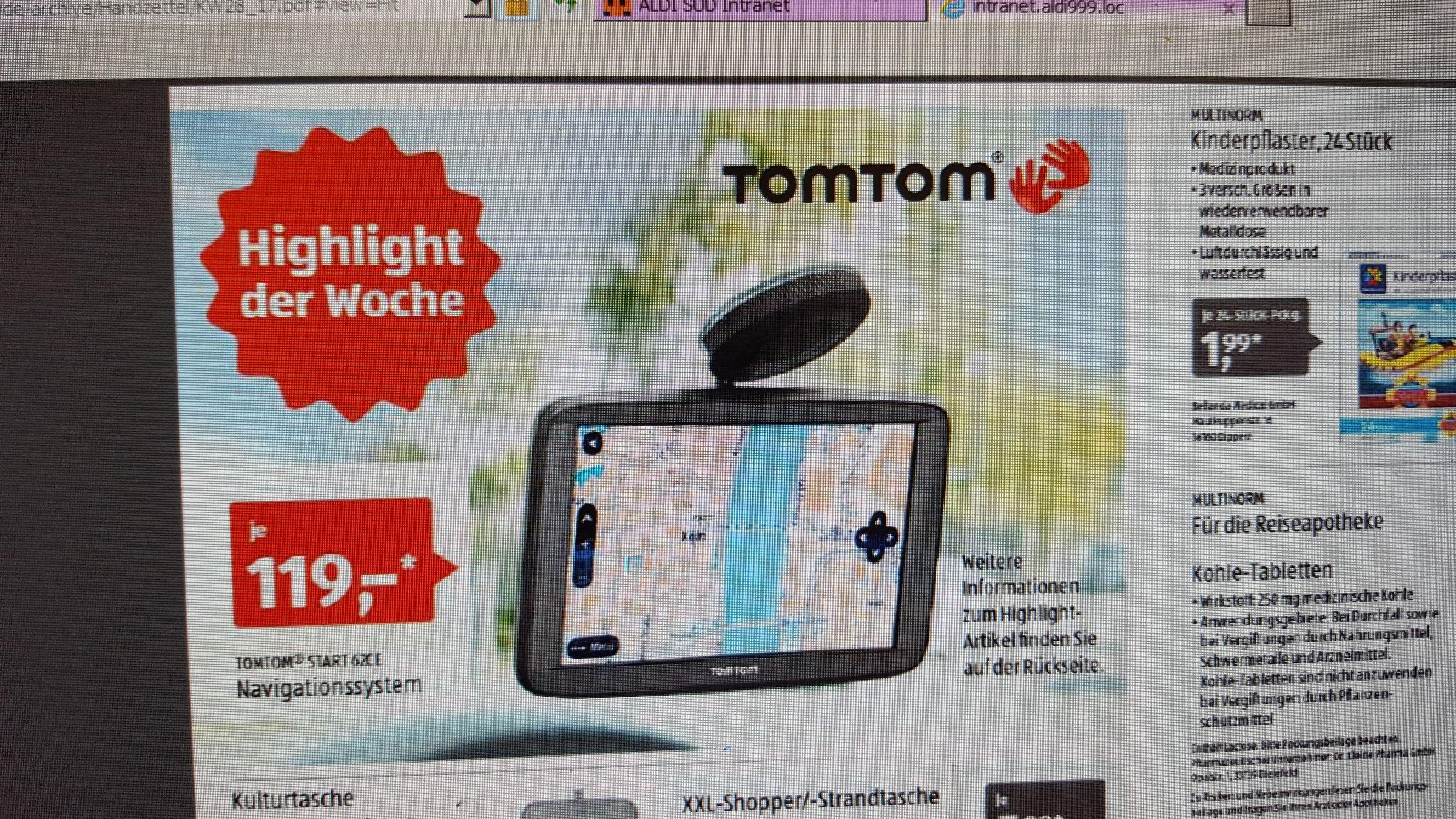 [Aldi Süd] TomTom Start 62 Navigationssystem