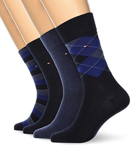 Tommy Hilfiger Herrensocken im 4er Pack für 16,99€ in blau oder für 16,75€ in schwarz [PRIME]