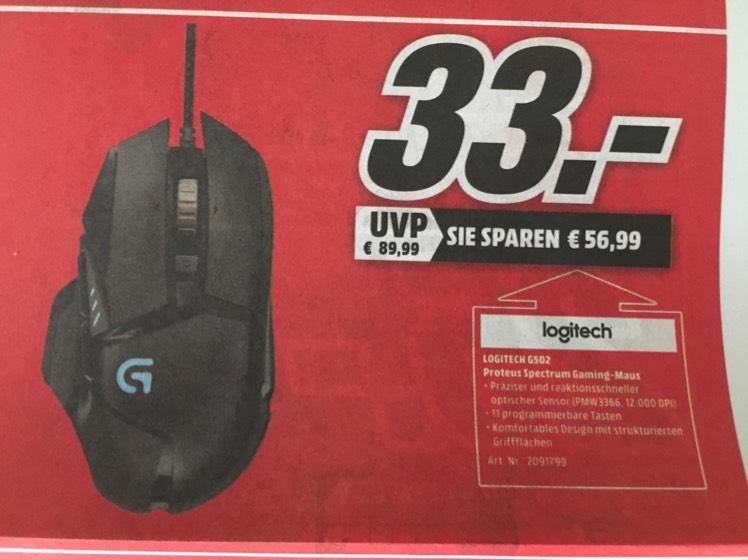 Logitech G502 Proteus Spectrum @ Mediamarkt Siegen