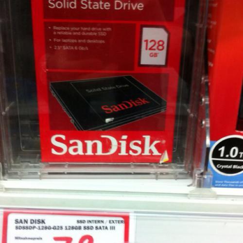 Sandisk SSD 128GB bei Media Markt Düsseldorf