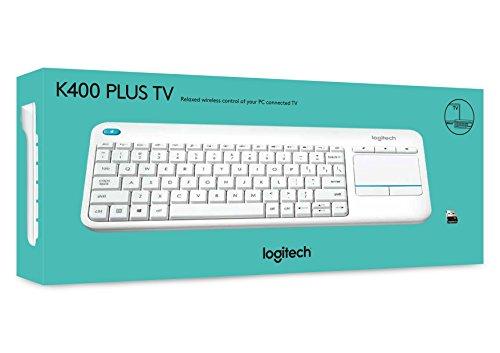 Logitech Wireless Touch K400 Plus Tastatur (Achtung QWERTY) weiß @ amazon