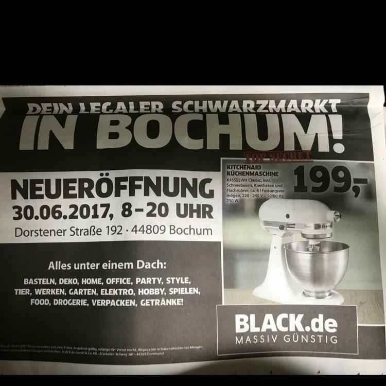 Black in Bochum 30.6. - Kitchen Aid K45SSEWH für 199€