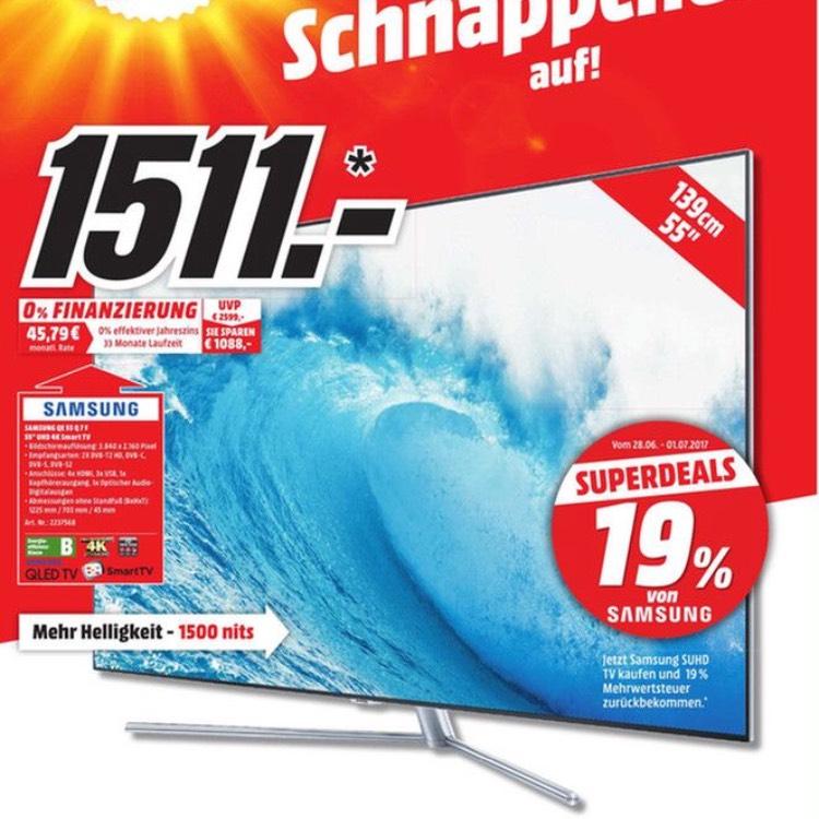 "Lokal [Media Markt Nürnberg] Samsung QLED QE55Q7F 55"" 4K UHD"