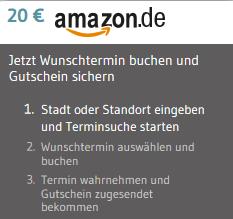 25 € Amazon Gutschein bei Zahnarztbesuch über Arzttermine.de