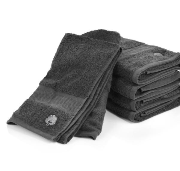 Handtuch Set 'Pure Cotton' in Grau 5-teilig mit Duschtüchern (140x70cm) bei Bluespoon für 19,99€ statt 32,99€