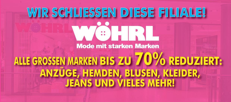 Räumungverkauf bei Wöhrl Berlin, Potsdamer Platz Arkaden, bis 80% reduziert
