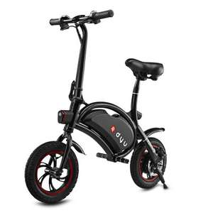 F - wheel DYU Electric Bike  -  BLACK, 12 inch Wheels / Folding Design / Smart Controlling
