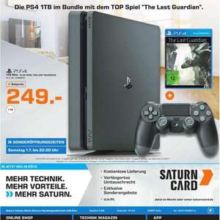Sony PS4 Slim 1 TB +  The Last Guardian