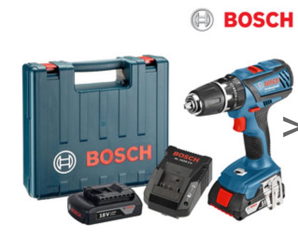 [iBood] Bosch GSB 18-2-LIAkku-Schlagbohrschrauber mit 2 Akkus