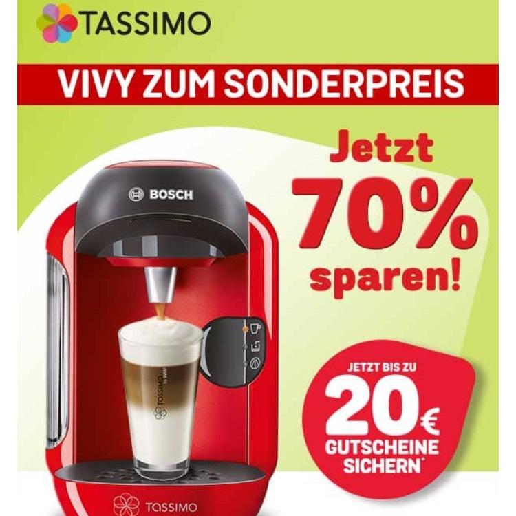 Tassimo  Kaffeemaschine VIVY nur 29,99€ + 20€ Gutschein »