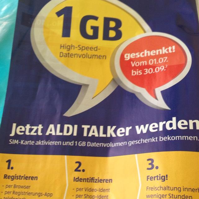 High Speed datenvolumen geschenkt 1GB Aldi Talk