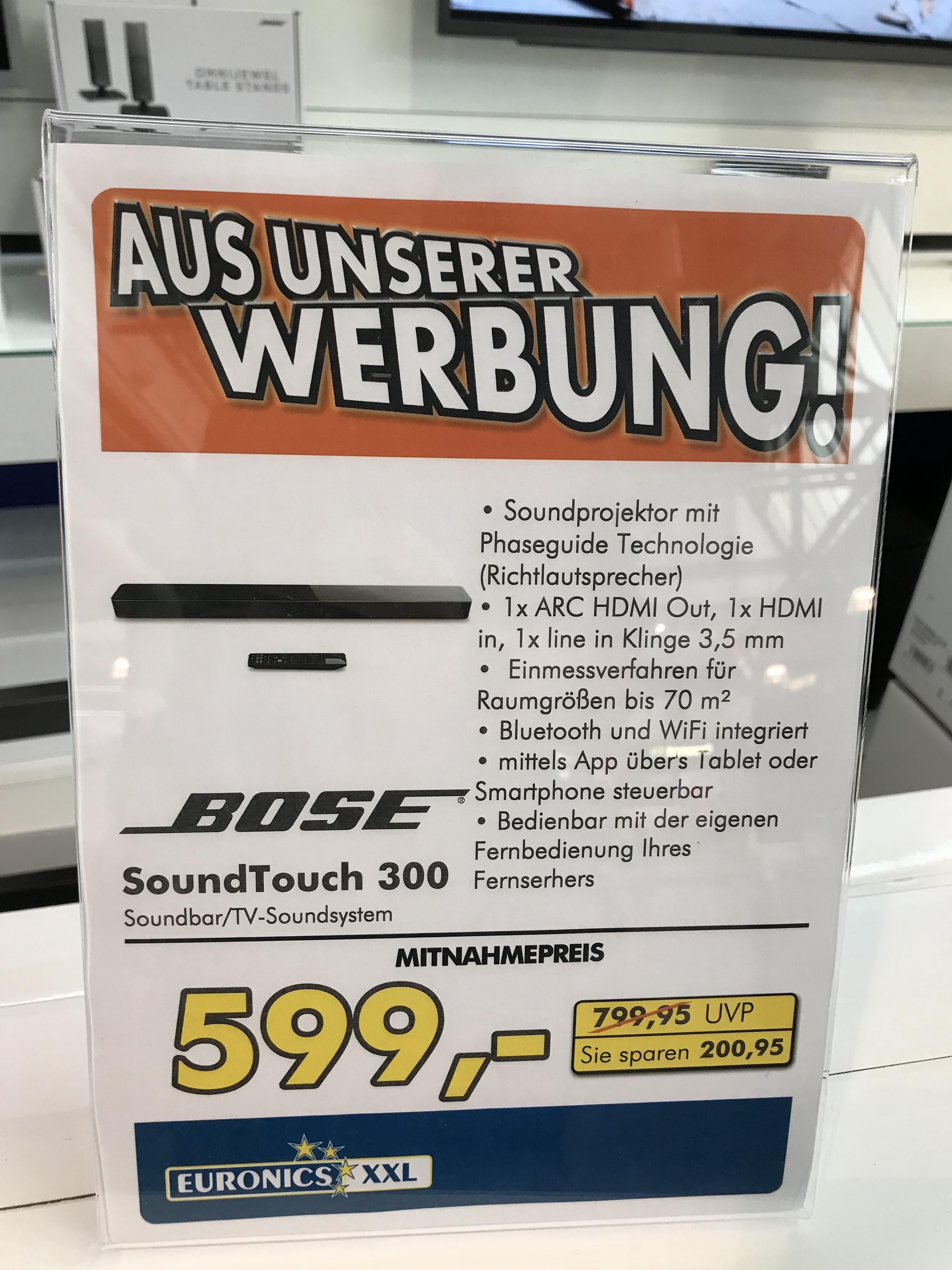 Euronics Ratingen Bose Abverkauf