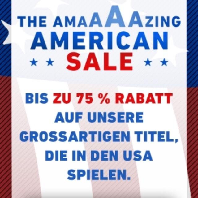 Amerikanisches Angebot: Bis zu 75% Rabatt auf spiele die in den USA spielen.