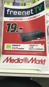 Lokal. Berlin Gropiuspassagen Media Markt Freenet TV,  4 Monate Gratis + Xoro Receiver 8730 Für 19€