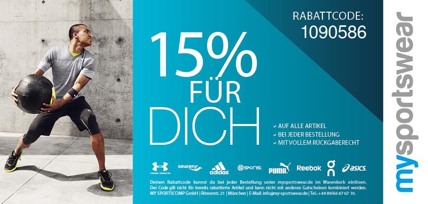 15% bei my-sportswear.de