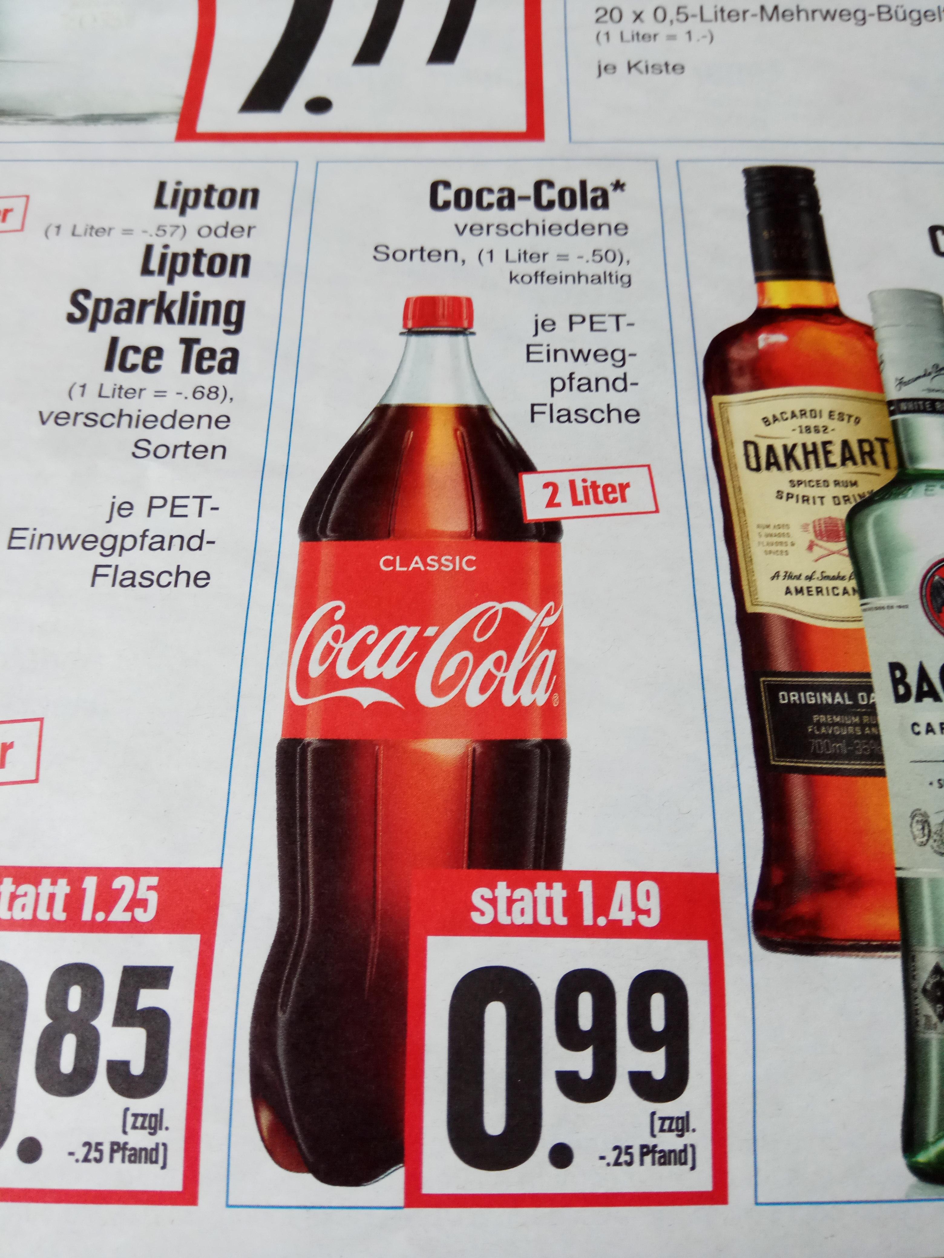 Cola Cola 2 Liter Flasche (verschiedene Sorten) für je 0,99€ @ EDEKA Hessenring