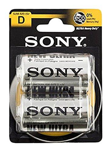 Sony Batterie Zink Mono D R20, Zink, 1.5V, 2er-Pack (SUM1NUB2A) Amazon Plus Produkt