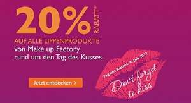 [Müller] 20% Rabatt auf Lippenprodukte von Make up Factory