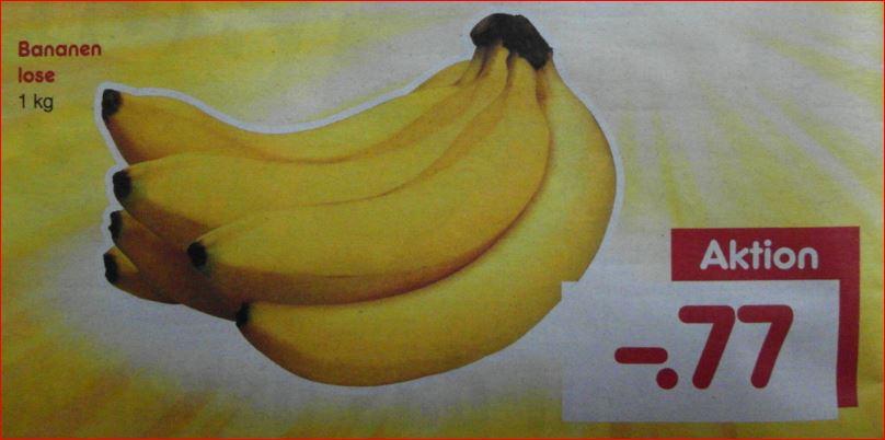 Bananen 1 kg für 77 Cent  [Netto MD - 08.07.2017]