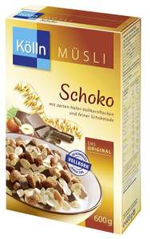 4x600g Kölln Müsli (Schoko & Schoko Knusper Krokant) ab 1,74€ pro Packung [Amazon]