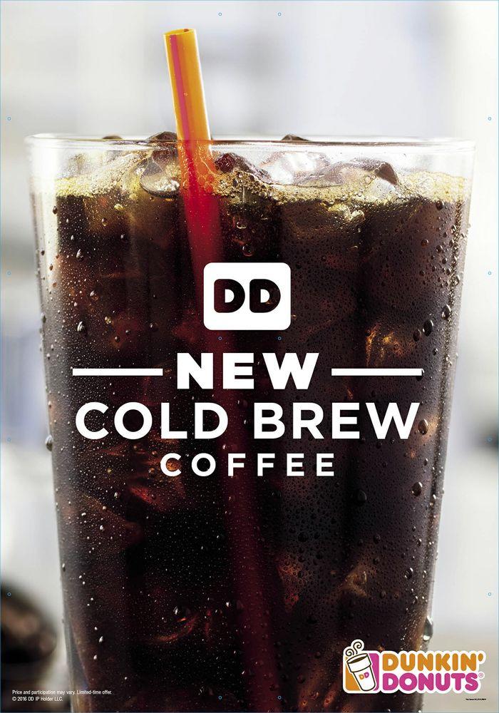 """Gratis Kaffeegetränk(e) """"Cold Brew"""" bei Dunkin' Donuts [via App]"""