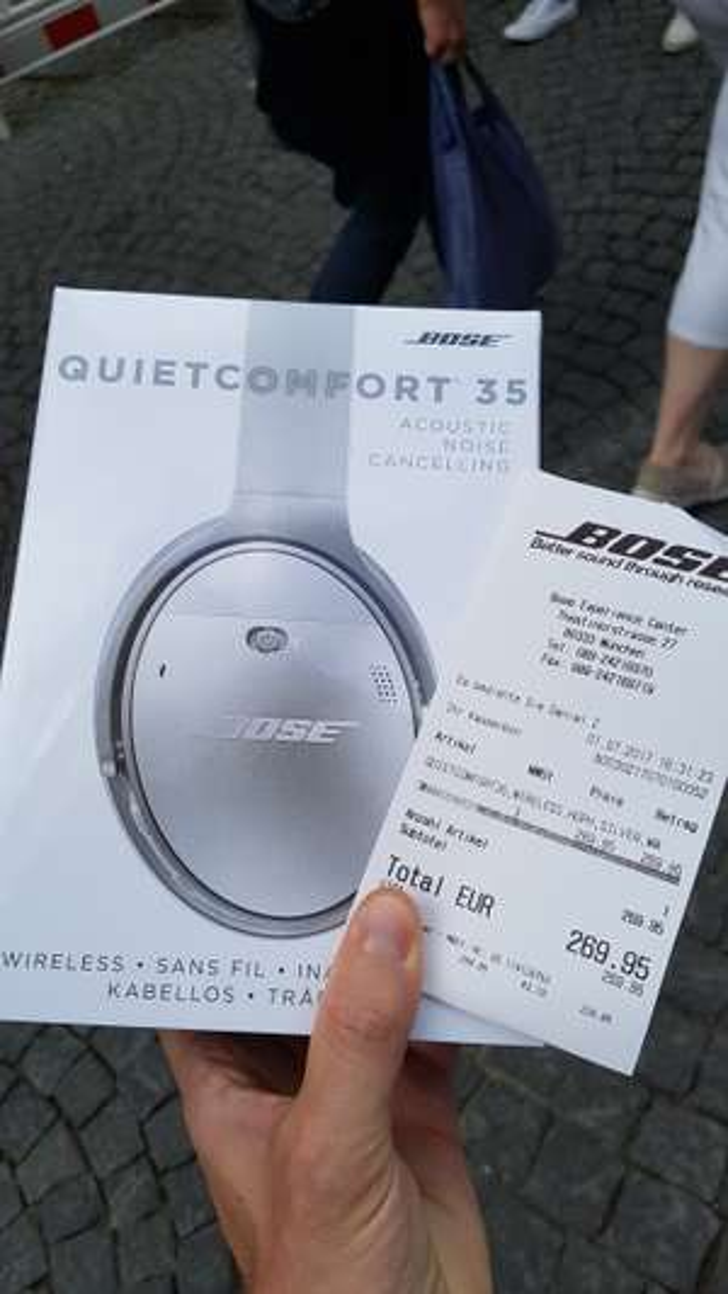 (lokal BOSE Store München) BOSE Quiet Comfort 35 QC35 Schwarz & Silber