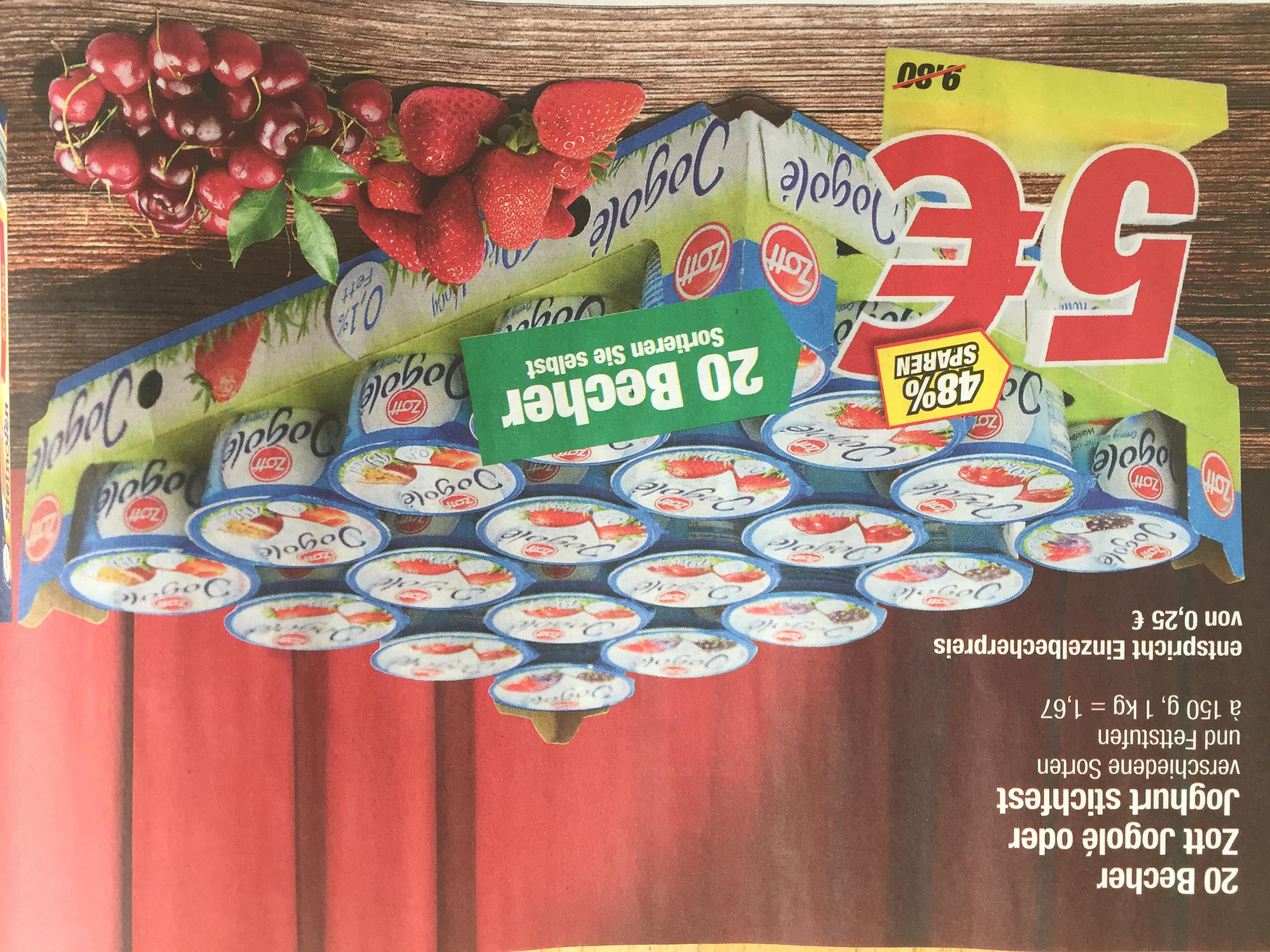 [offline] Marktkauf: 20 x Zott Jogolé oder Joghurt stichfest