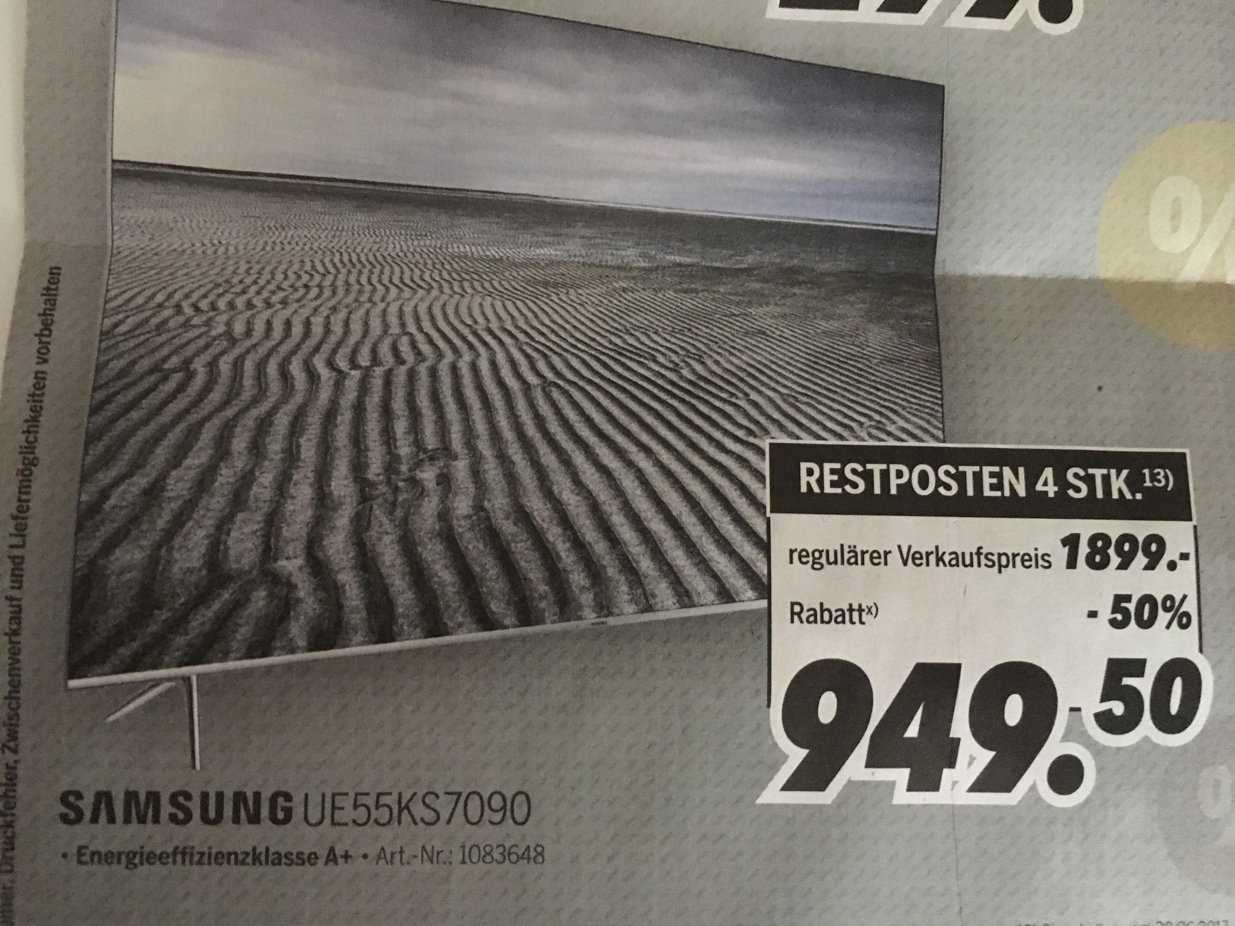 [Medimax Hannover/Hildesheim] Samsung 55KS7090, 100Hz, 4k HDR10, (nur 4 Stk. verfügbar)